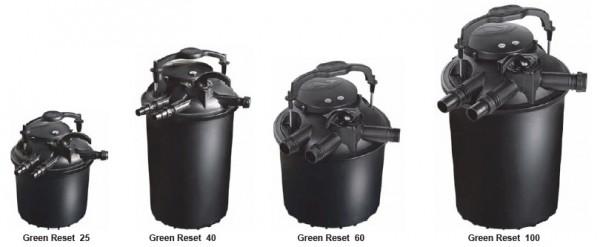 Druckfilter 25 L mit UVC Lampe und Rückspülfunktion