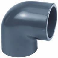 PVC Winkel 90° PVC-PE D75 mm