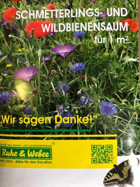 Bee Happy Schmetterlings und Wildbienensaum für 1m²