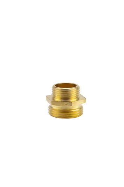 Reduzier-Messing-Gewindenippel, 33,3 mm (G 1)-AG /26,5 mm (G 3/4)-AG
