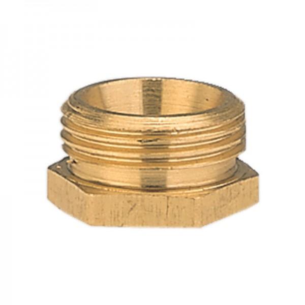 Messing-Reduzierstück, 26,5 mm (G 3/4)-AG /21 mm (G 1/2)-IG