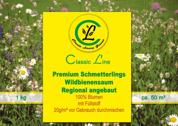 Premium Schmetterlings-Wildbienensaum regional angebaut