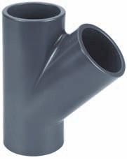 PVC T-Stück 45°