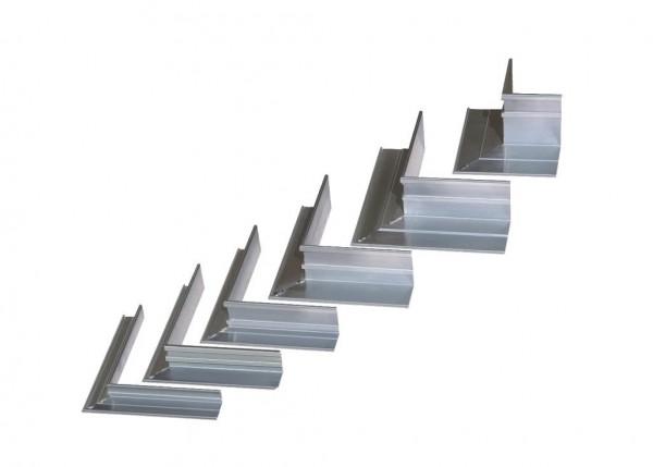 AluKante - Eckstück außen 100mm aus Aluminium