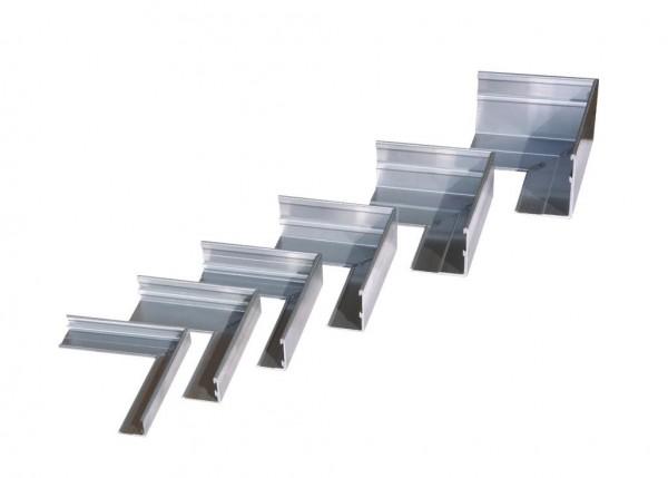 AluKante - Eckstück innen 100mm aus Aluminium